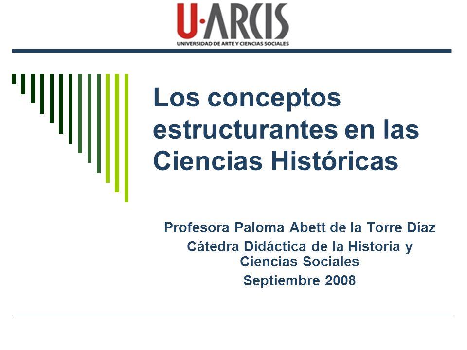 Los conceptos estructurantes en las Ciencias Históricas