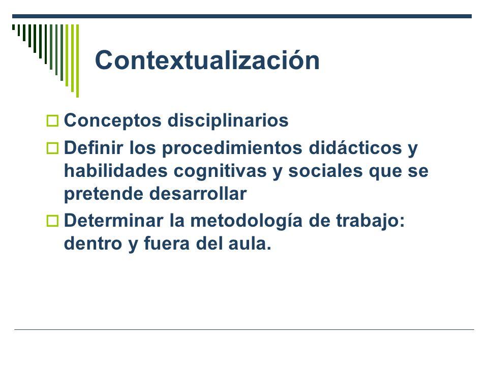 Contextualización Conceptos disciplinarios