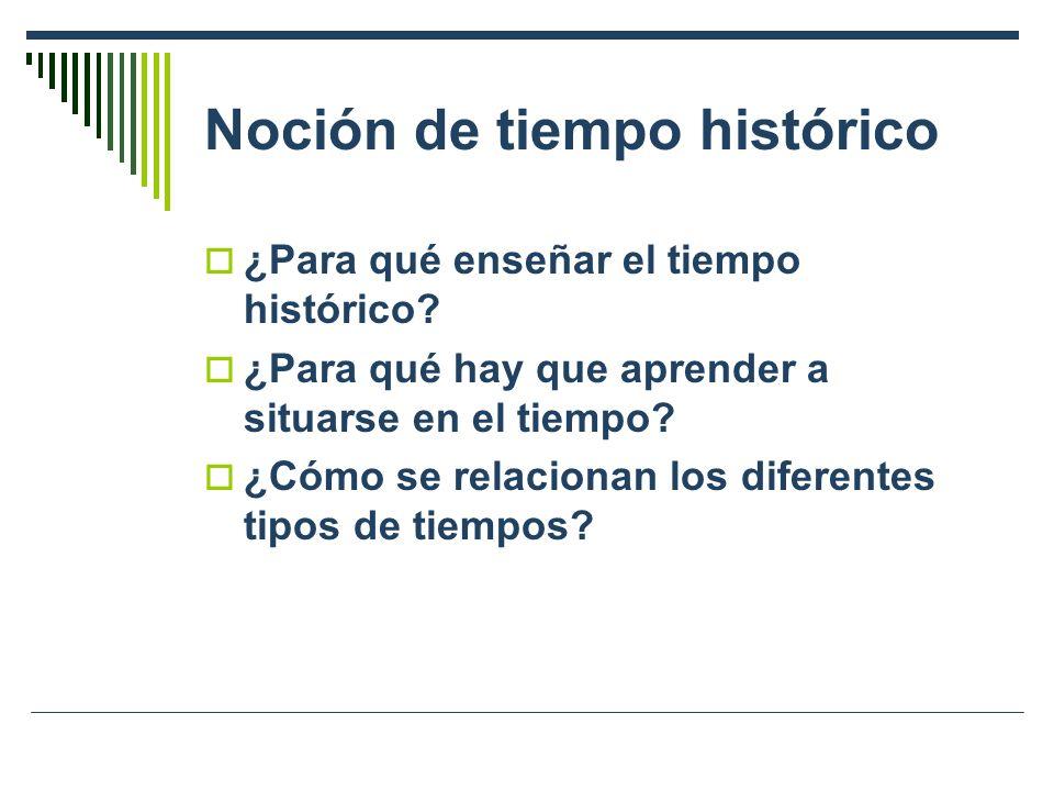 Noción de tiempo histórico