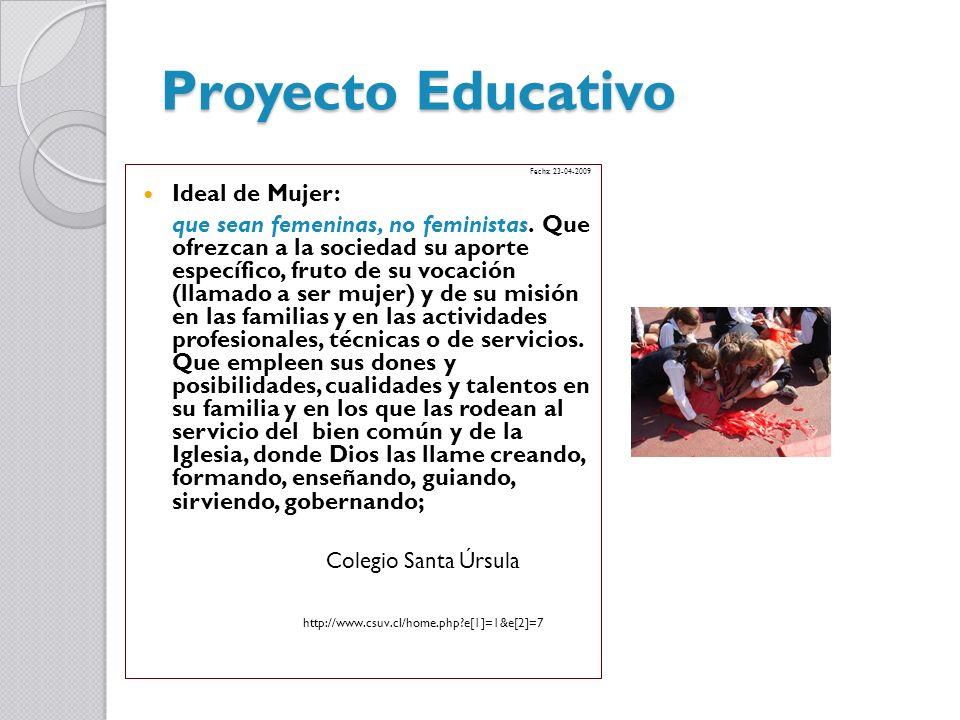 Proyecto Educativo Ideal de Mujer: