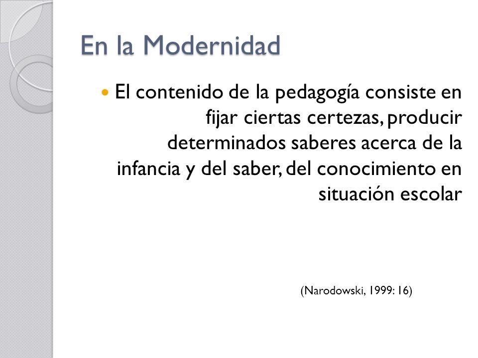 En la Modernidad