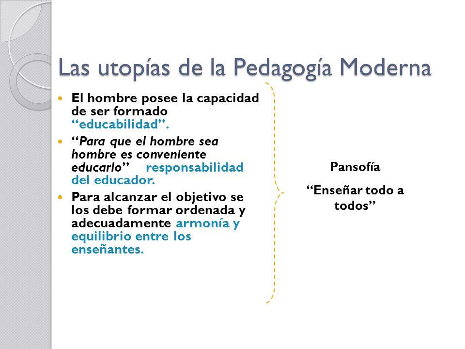 Las utopías de la Pedagogía Moderna