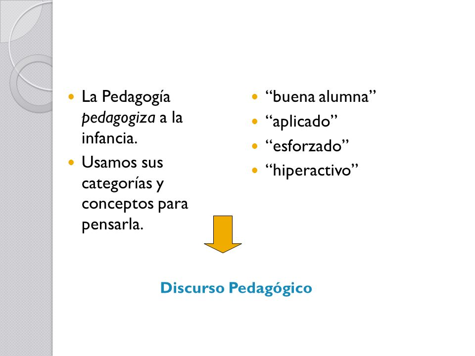 La Pedagogía pedagogiza a la infancia.