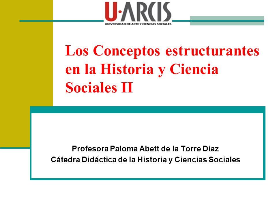 Los Conceptos estructurantes en la Historia y Ciencia Sociales II