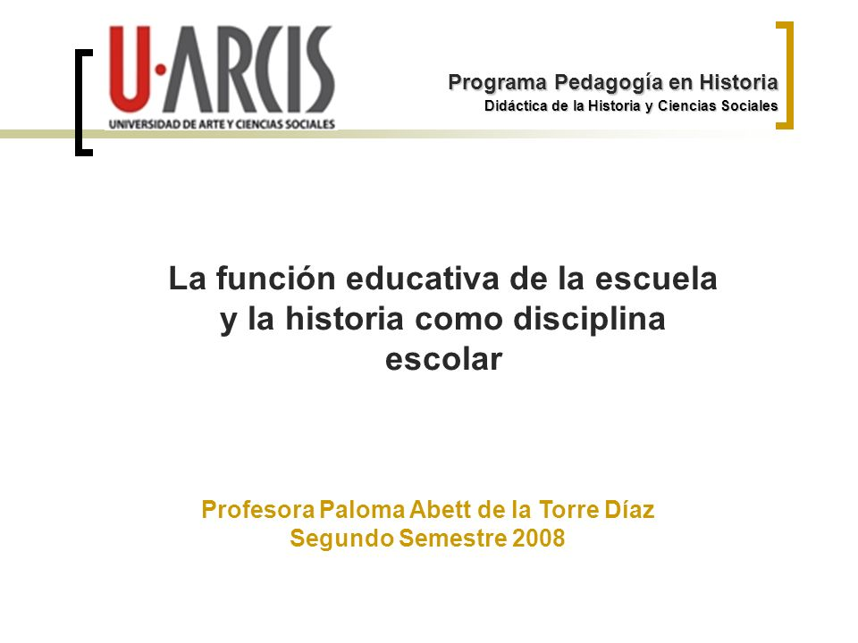 Profesora Paloma Abett de la Torre Díaz