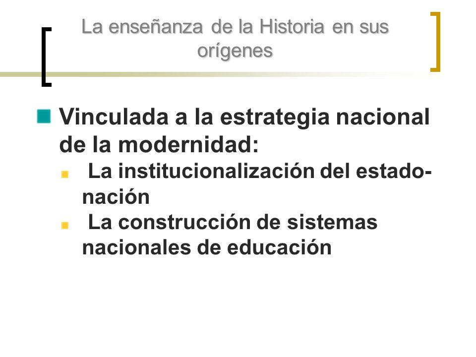 La enseñanza de la Historia en sus orígenes