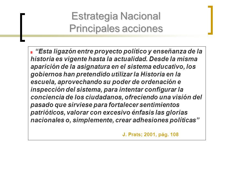 Estrategia Nacional Principales acciones