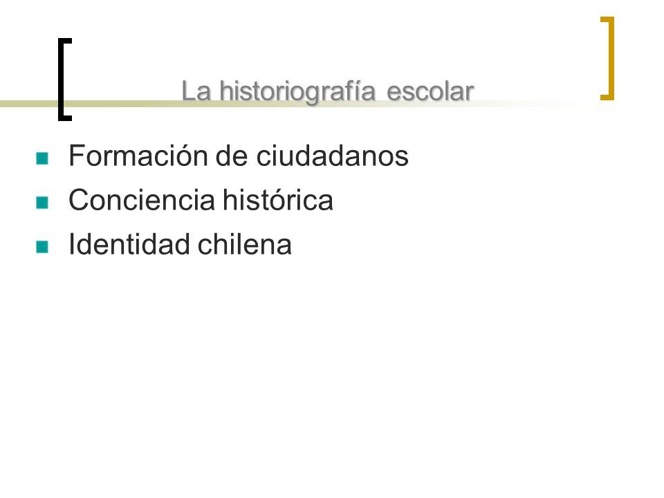La historiografía escolar