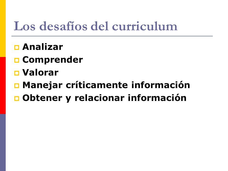 Los desafíos del curriculum