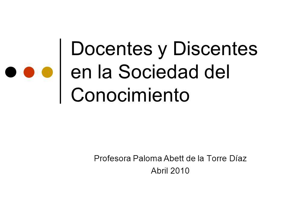 Docentes y Discentes en la Sociedad del Conocimiento