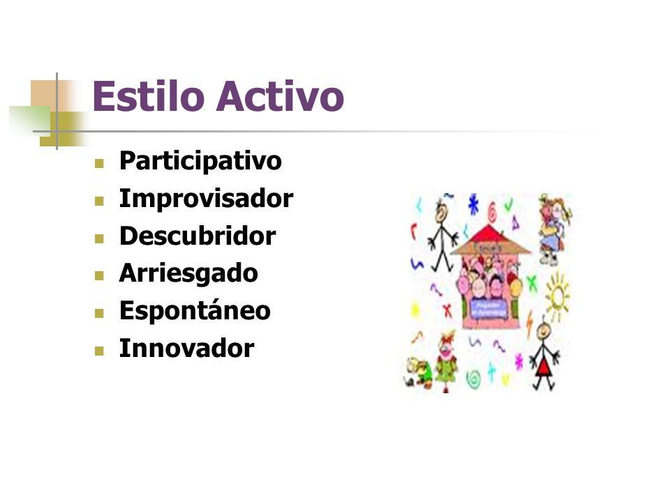 Estilo Activo Participativo Improvisador Descubridor Arriesgado