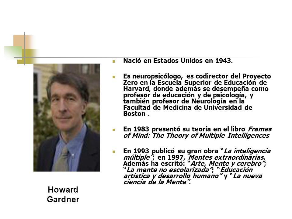 Howard Gardner Nació en Estados Unidos en 1943.