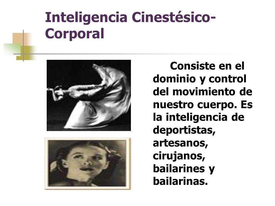 Inteligencia Cinestésico-Corporal