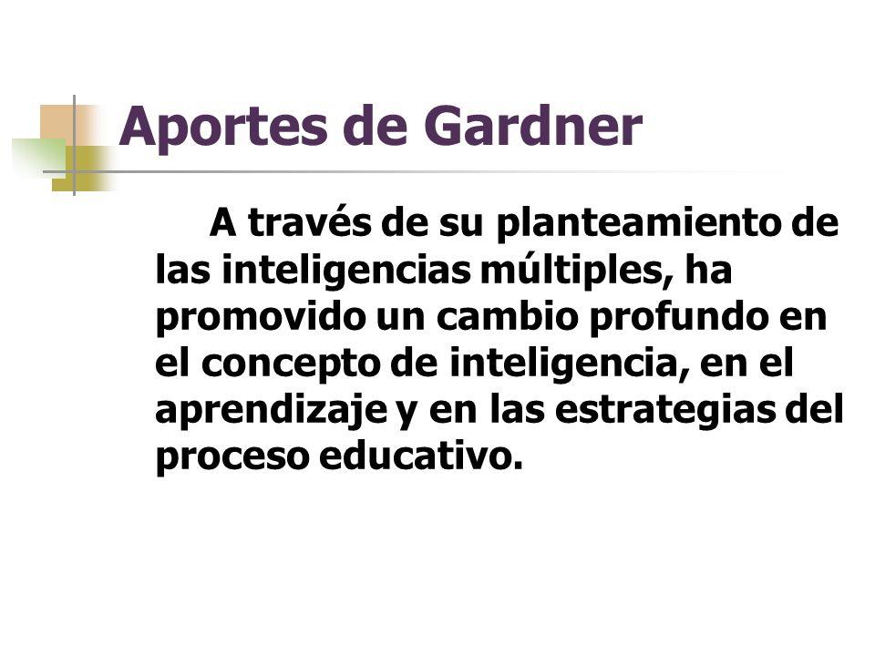 Aportes de Gardner