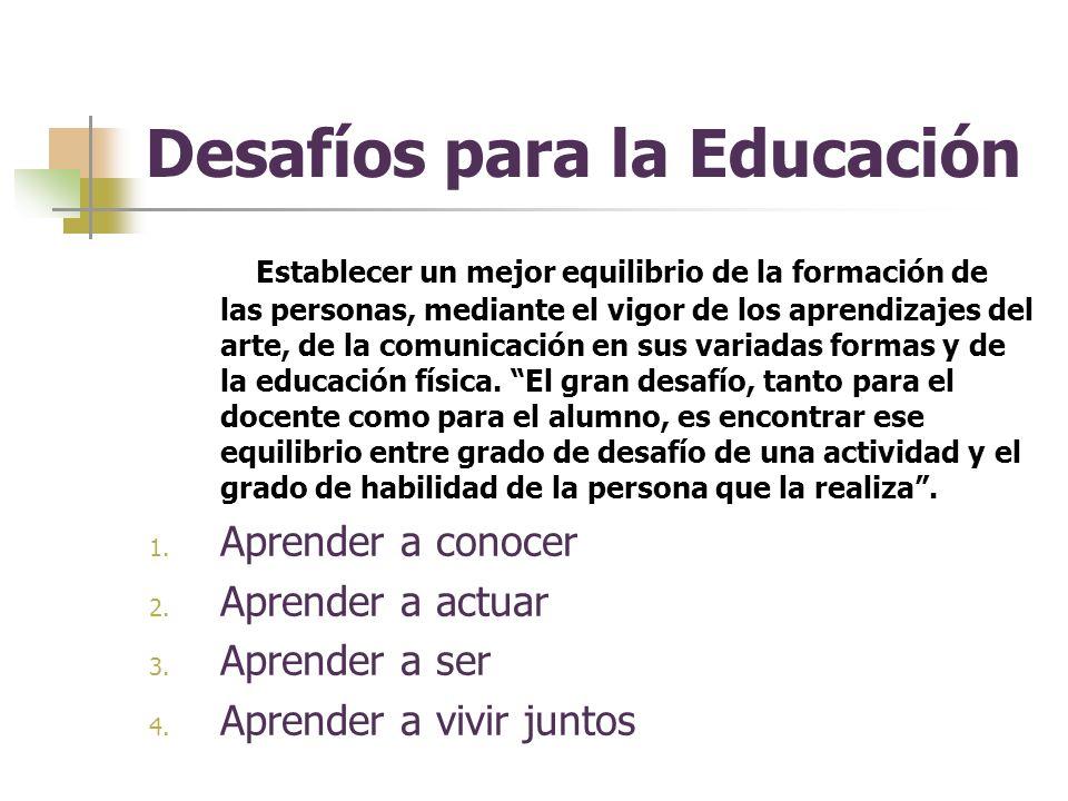 Desafíos para la Educación