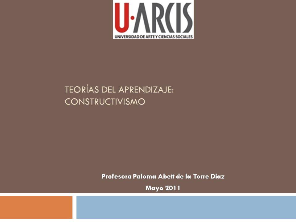 Teorías del Aprendizaje: Constructivismo