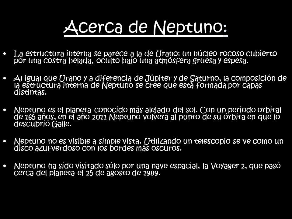 Acerca de Neptuno:
