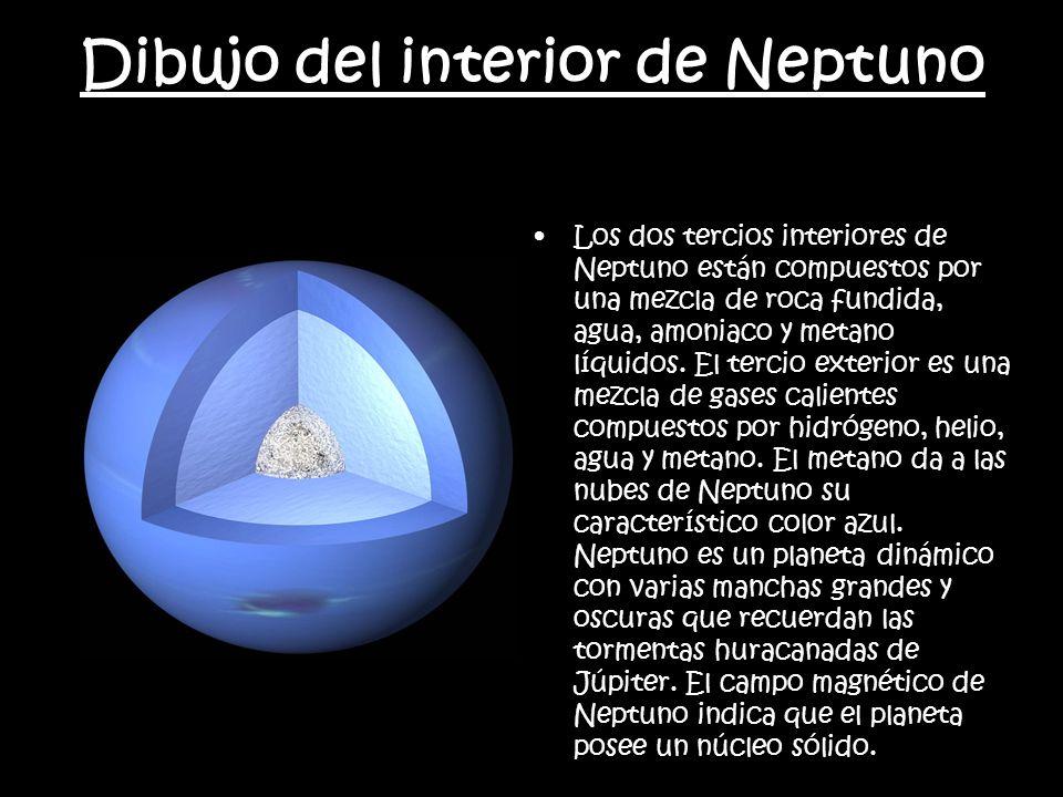 Dibujo del interior de Neptuno