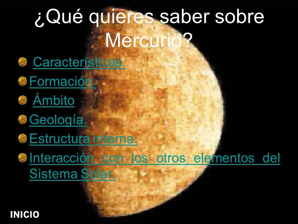 ¿Qué quieres saber sobre Mercurio
