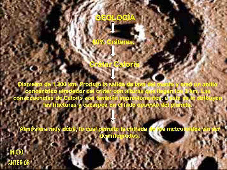 GEOLOGÍA Cráter Caloris
