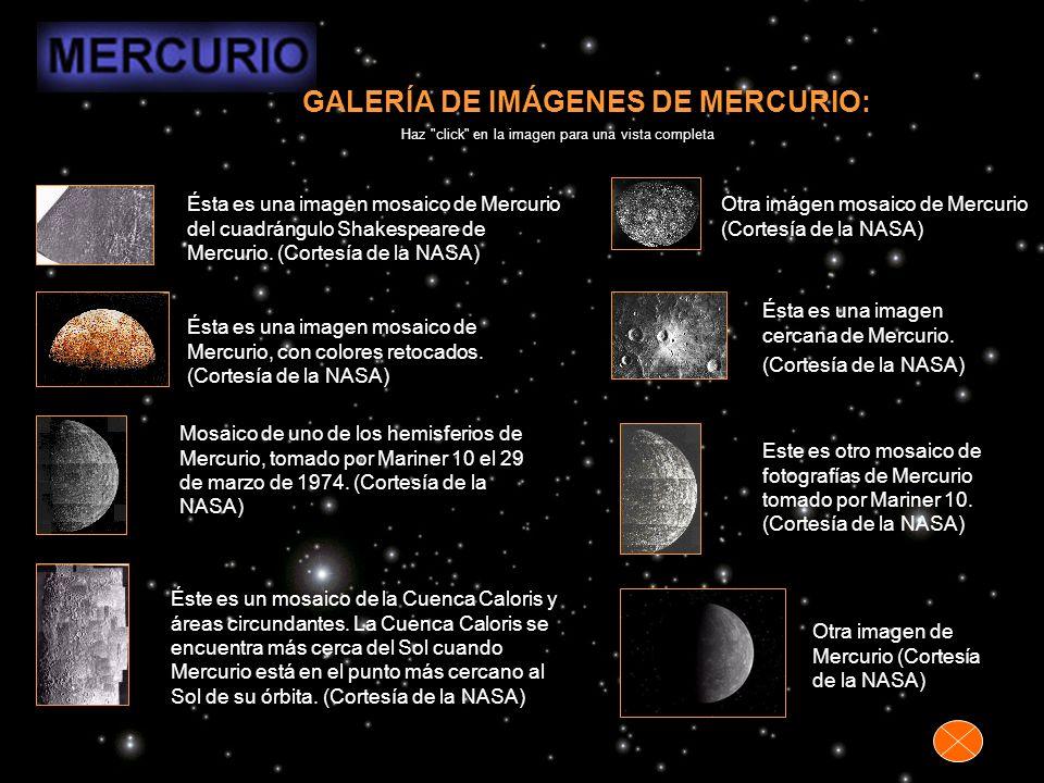 GALERÍA DE IMÁGENES DE MERCURIO: