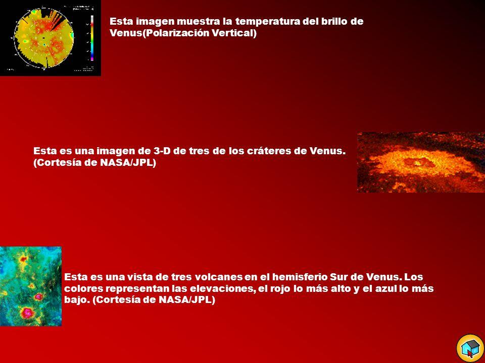 Esta imagen muestra la temperatura del brillo de Venus(Polarización Vertical)