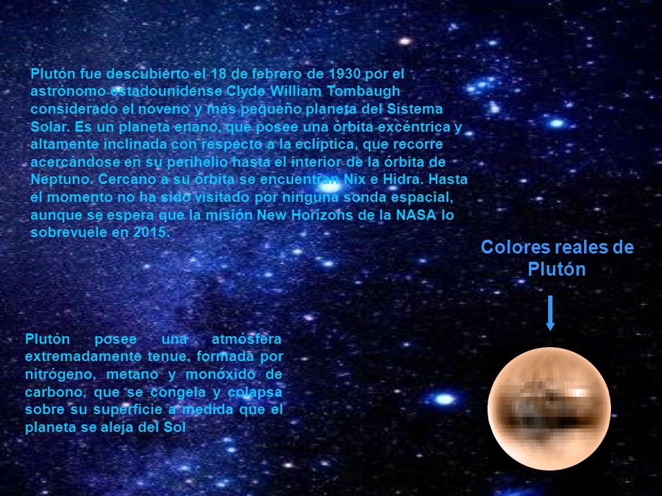 Colores reales de Plutón