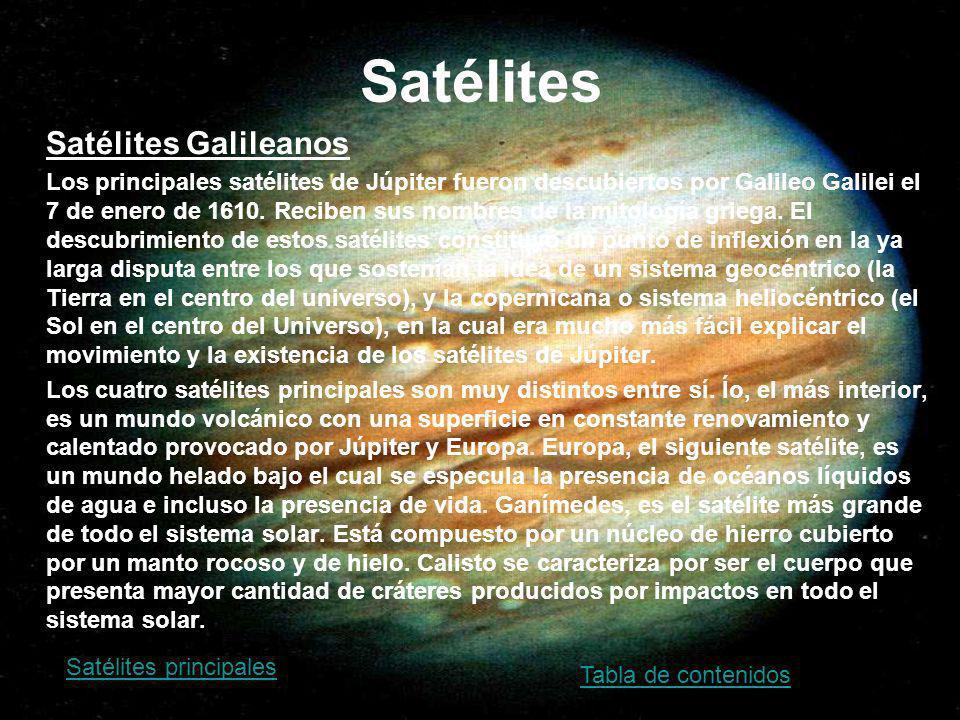 Satélites Satélites Galileanos