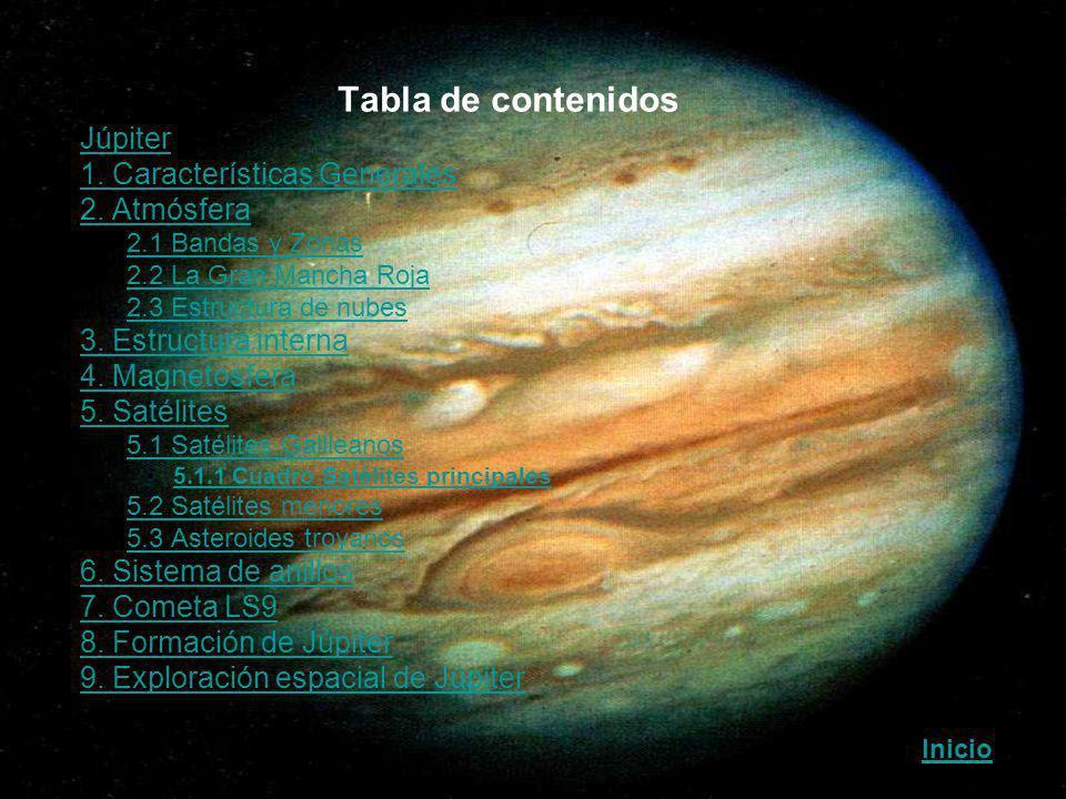 Tabla de contenidos Júpiter 1. Características Generales 2. Atmósfera