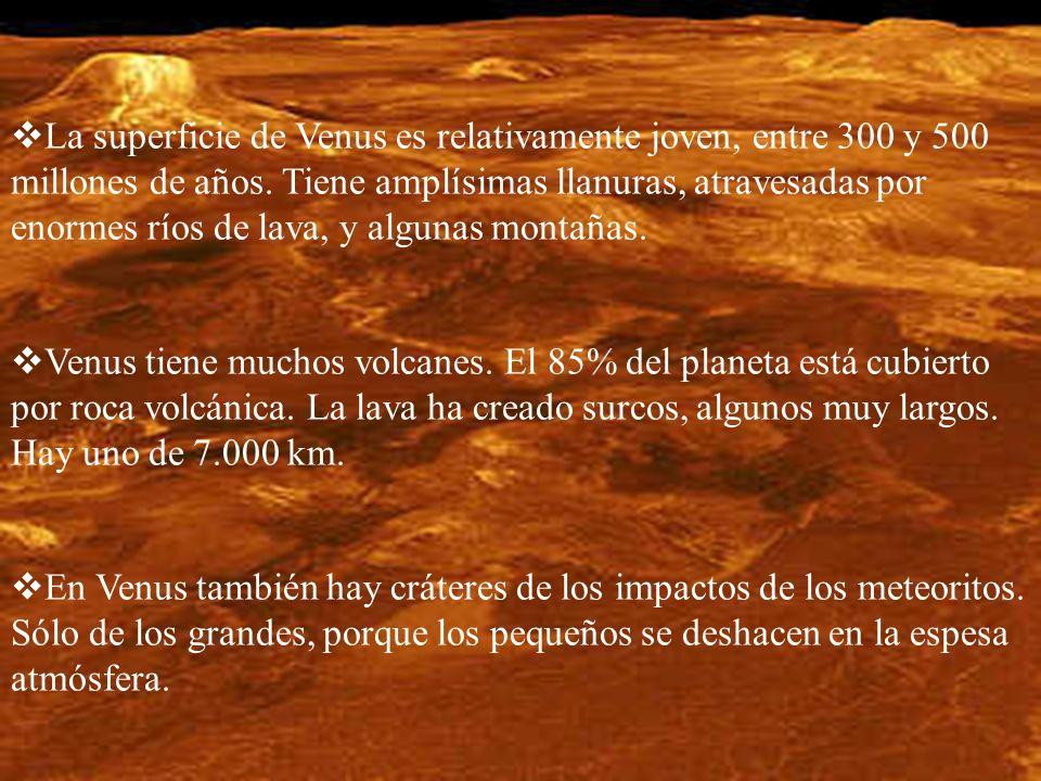 La superficie de Venus es relativamente joven, entre 300 y 500