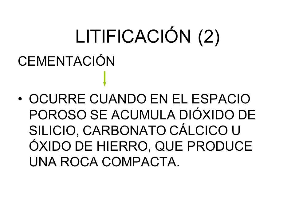 LITIFICACIÓN (2) CEMENTACIÓN