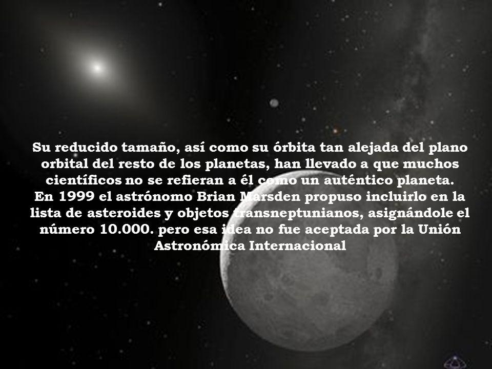 Su reducido tamaño, así como su órbita tan alejada del plano orbital del resto de los planetas, han llevado a que muchos científicos no se refieran a él como un auténtico planeta.