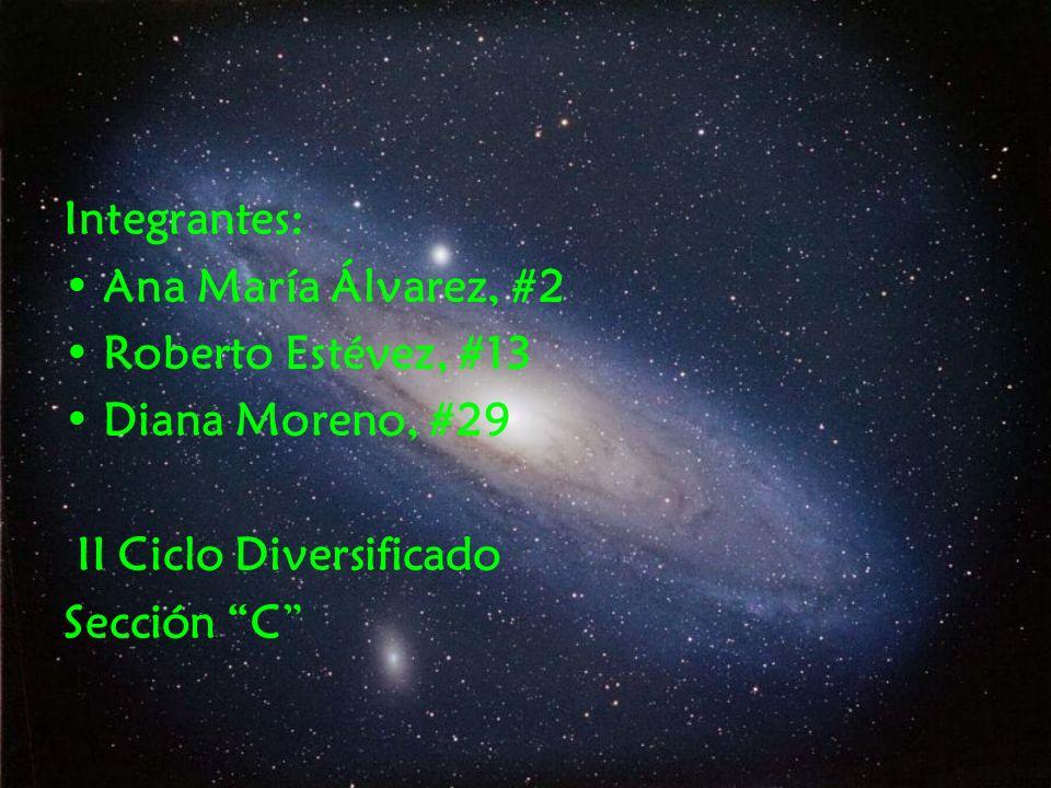 Integrantes:Ana María Álvarez, #2. Roberto Estévez, #13. Diana Moreno, #29. II Ciclo Diversificado.