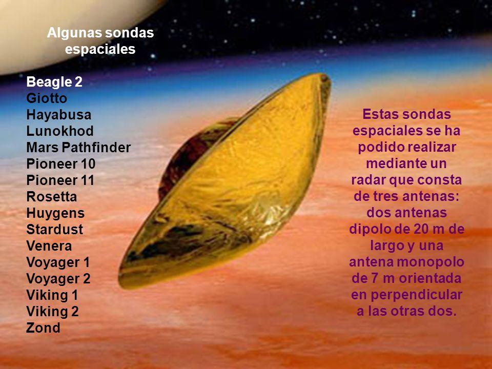 Algunas sondas espaciales