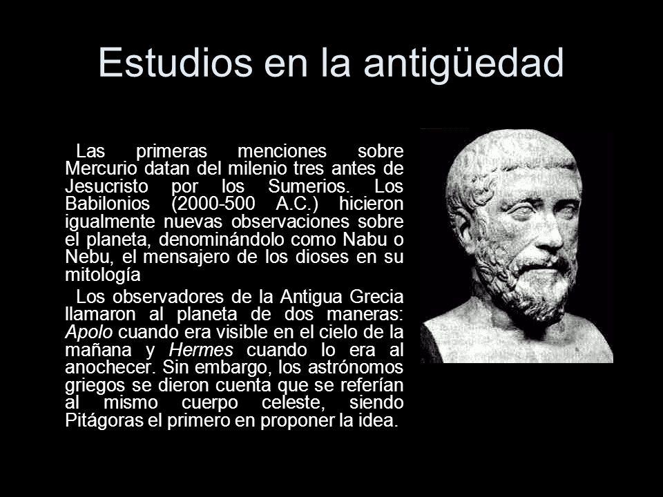 Estudios en la antigüedad