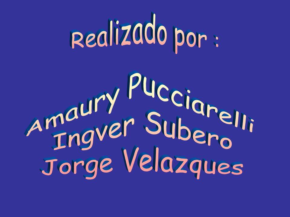 Realizado por : Amaury Pucciarelli Ingver Subero Jorge Velazques