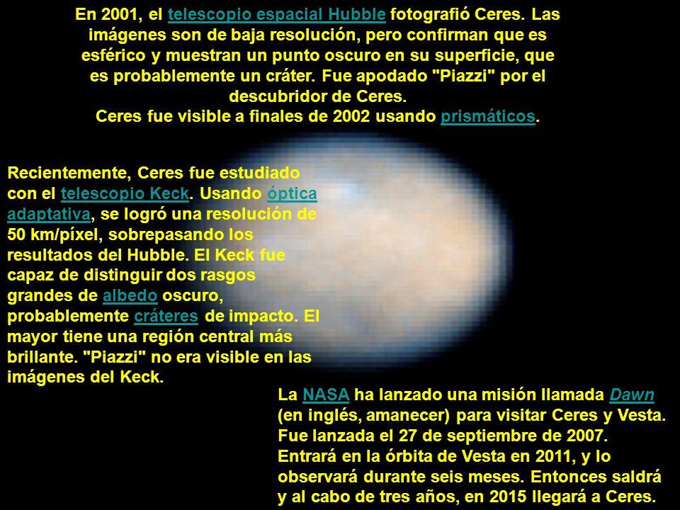 Ceres fue visible a finales de 2002 usando prismáticos.