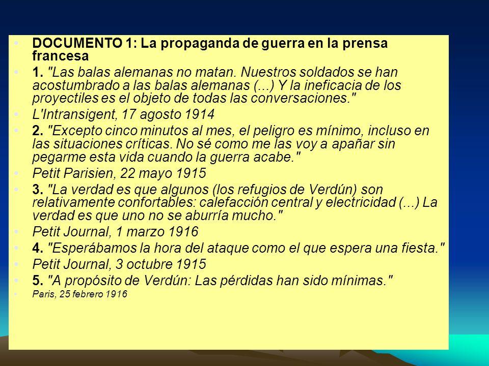 DOCUMENTO 1: La propaganda de guerra en la prensa francesa
