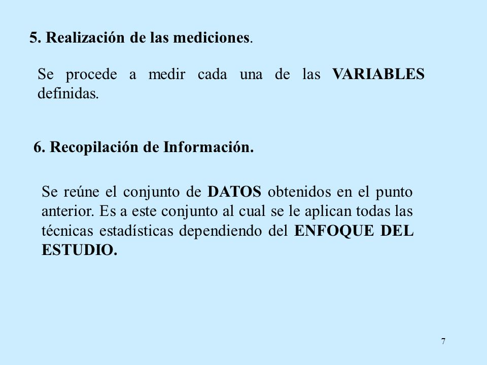 5. Realización de las mediciones.
