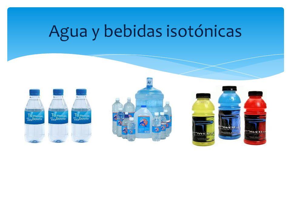 Agua y bebidas isotónicas
