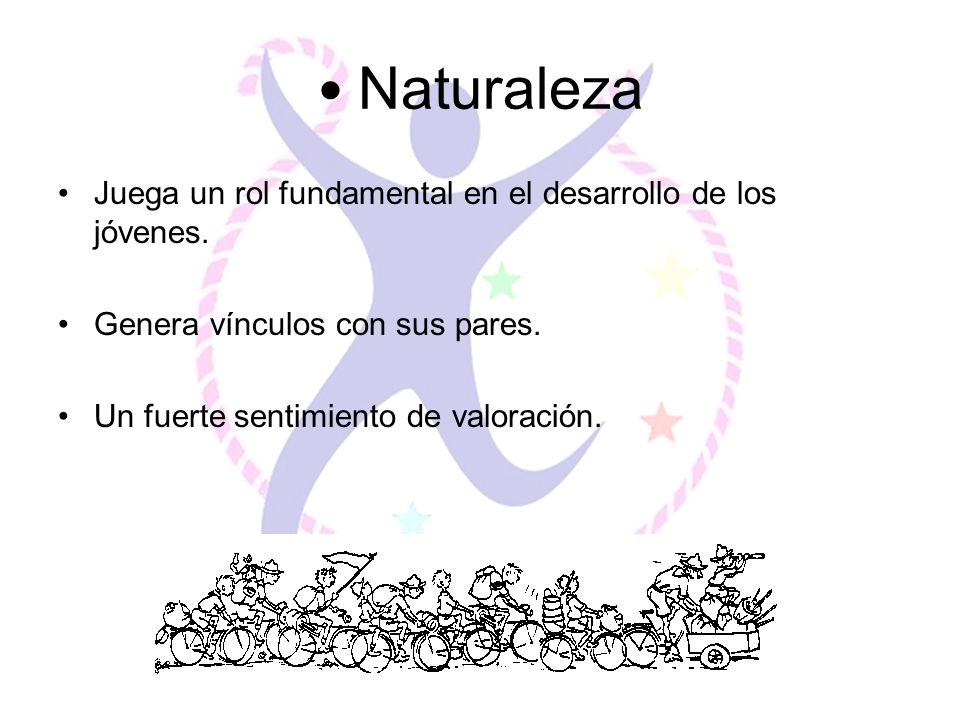 Naturaleza Juega un rol fundamental en el desarrollo de los jóvenes.