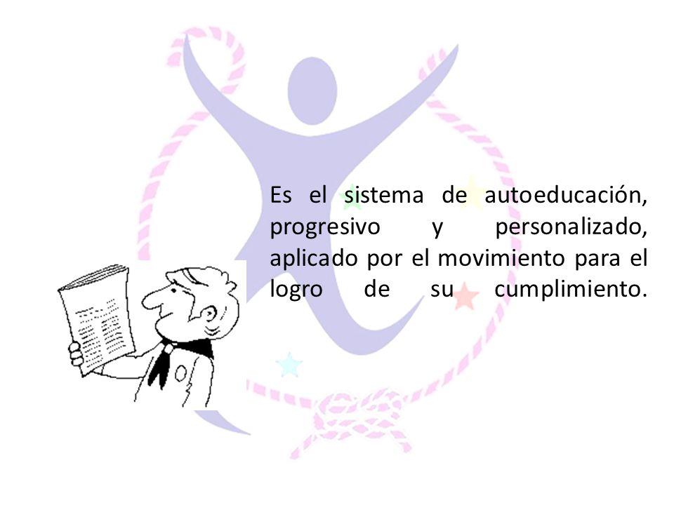 Es el sistema de autoeducación, progresivo y personalizado, aplicado por el movimiento para el logro de su cumplimiento.