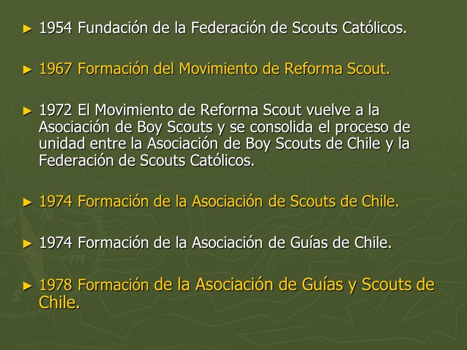 1954 Fundación de la Federación de Scouts Católicos.