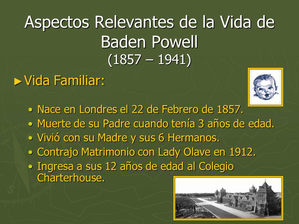 Aspectos Relevantes de la Vida de Baden Powell (1857 – 1941)