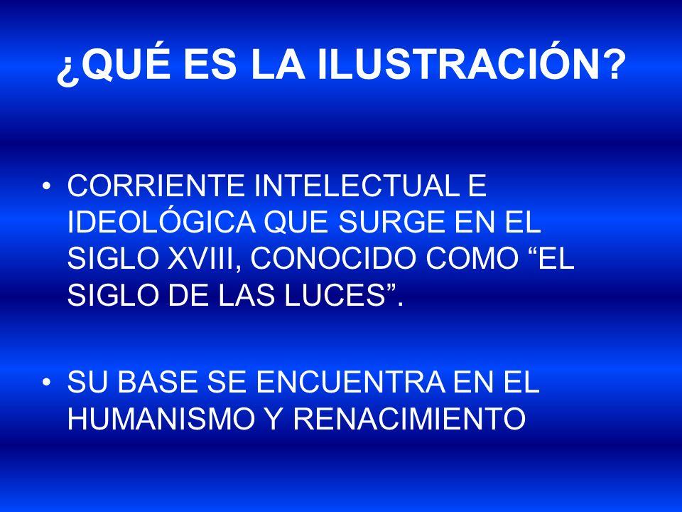 ¿QUÉ ES LA ILUSTRACIÓN CORRIENTE INTELECTUAL E IDEOLÓGICA QUE SURGE EN EL SIGLO XVIII, CONOCIDO COMO EL SIGLO DE LAS LUCES .