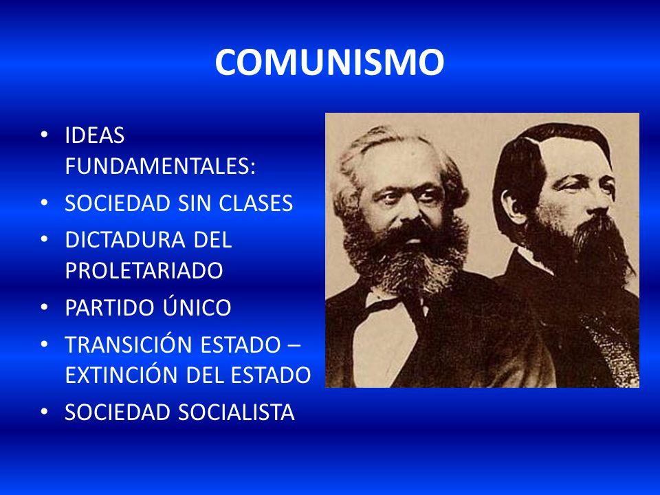 COMUNISMO IDEAS FUNDAMENTALES: SOCIEDAD SIN CLASES
