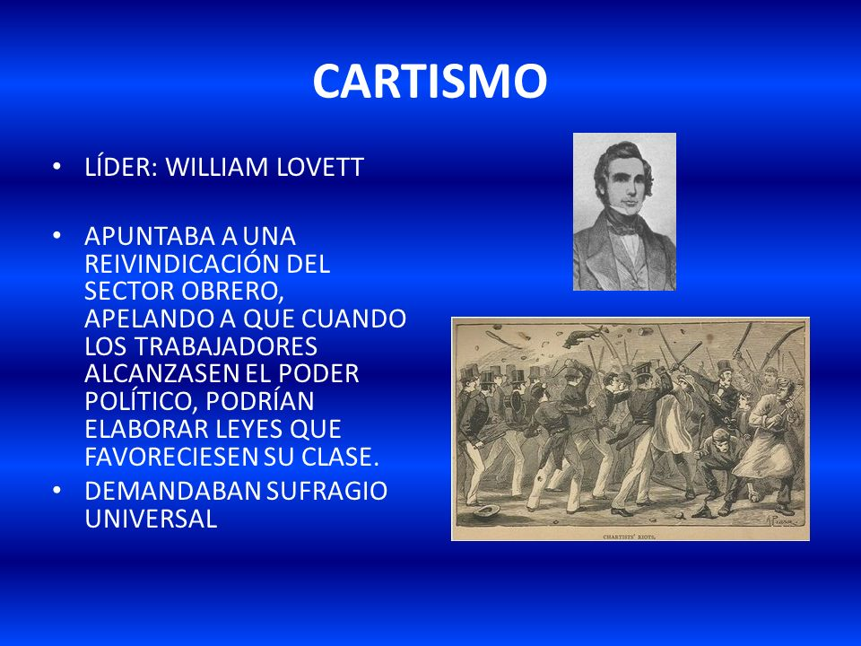 CARTISMO LÍDER: WILLIAM LOVETT