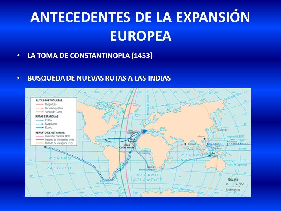 ANTECEDENTES DE LA EXPANSIÓN EUROPEA