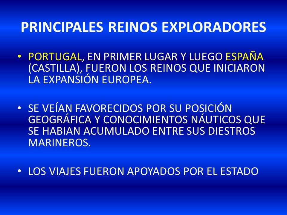 PRINCIPALES REINOS EXPLORADORES