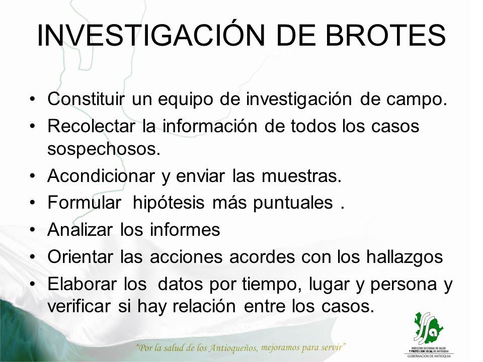 INVESTIGACIÓN DE BROTES